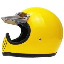 Classic Moto III style motorcycle helmet Cross Sports Street bike moto