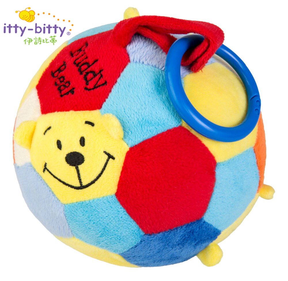 Baby Ball Toys 0-3 Years Educational Soft Plush Buddy Bear Soccer Stuffed Plush Soft Toy With Rattle and Bright Color for Babies