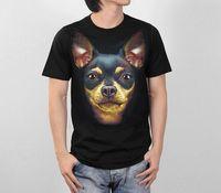 Company T Shirts Crew Neck Novelty Miniature Pinscher Face Dog Animal Art Graphic Men Top Short Sleeve T Shirt S to 3XL Short