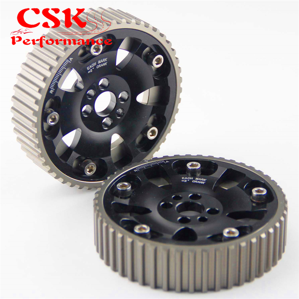 2 Pcs High Performance Cam Gears Pulley Kit Fits For 89-02 Nissan Skyline RB20 RB25 RB26 R32 R33 R34 Black/Blue/Red/Purple