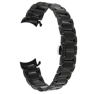 Image 2 - 18mm 20mm 22mm Stainless Steel Watchband for Casio BEM 302 307 501 506 517 EF MTP Series Curved End Strap Belt Wrist Bracelet