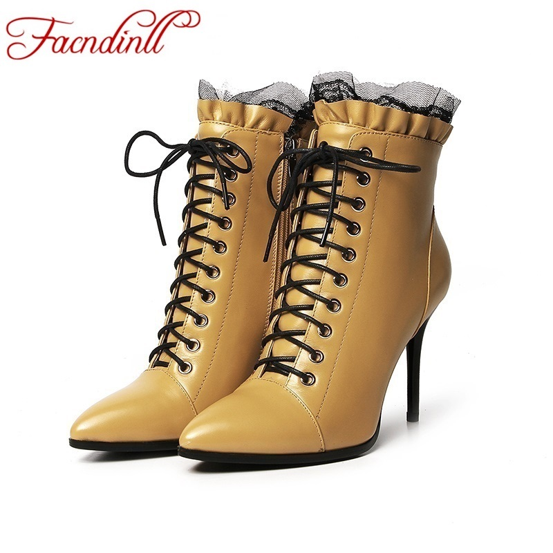 ФОТО 2016 new winter fashion tip cross lacing shoes women high-heeled ankle boots black boots street casual shoes 33-43 sweet style