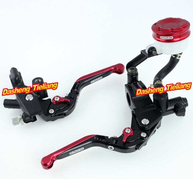 Universal 7/8 Motorcycle Brake Clutch Master Cylinder Kit Reservoir Lever Red Aluminum Alloy High Quality shivaki sfh 484be suh 484be