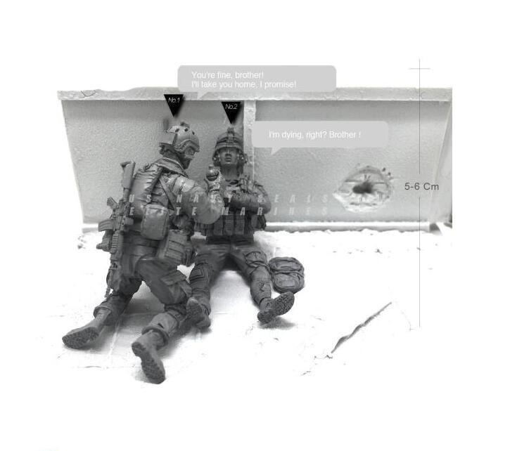Tobyfancy 1/35 Modern U.S Navy Elite Marine Combatientes de rescate - Juguetes de construcción - foto 1