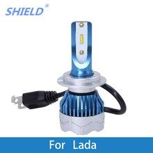 2 Pcs Car LED Headlight Kit H4 H7 led 9006 9005 H1 H3 H11 6000K 12000LM CSP Chips For Lada Niva GRANTA KALINA VESTA PRIORA 2 pcs car led headlight kit h4 h7 led 9006 9005 h1 h3 h11 80w 6000k 12000lm csp chips for seat ibiza leon altea toledo arosa