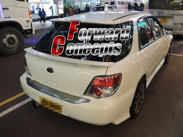 FOR 02-07 <font><b>IMPREZA</b></font> GG WAGON <font><b>WRX</b></font> <font><b>STi</b></font> REAR WING HATCH MIDDLE SPOILER image