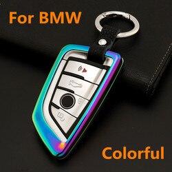 Ze stopu cynku klucz samochodowy zestaw inteligentny pilot osłona zabezpieczająca pokrywy skrzynka dla BMW X1 X5 X6 218i F48 2018 525i M760Li 740li 730