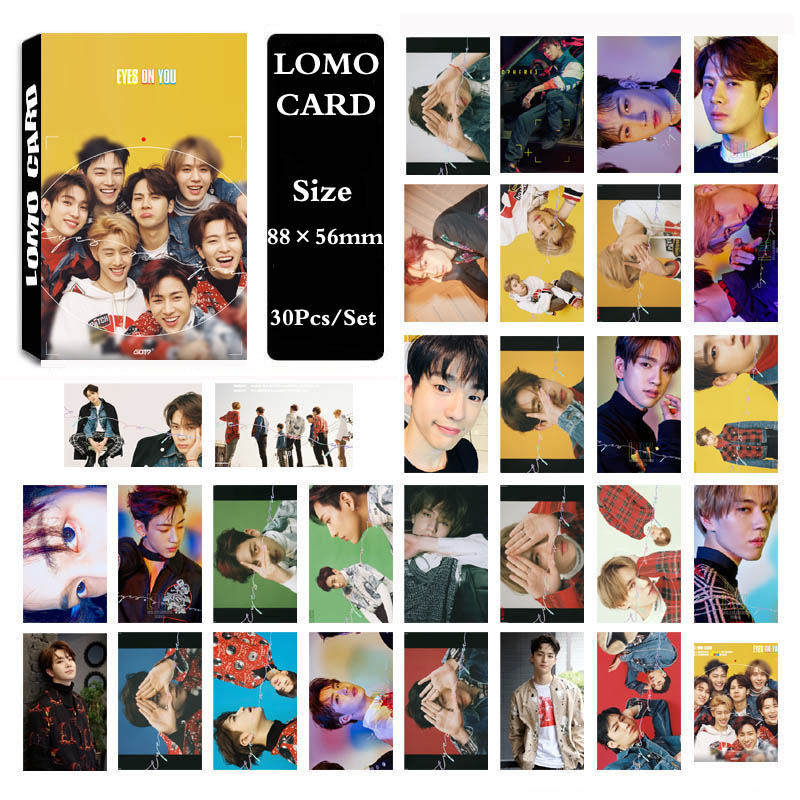 Jewelry & Accessories Earnest Yanzixg Kpop Got7 Album Eyes On Yo Self Made Paper Poster Photo Card Lomo Card Hd Photocard Fans Gift Collection Pure White And Translucent Beads & Jewelry Making