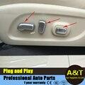 Автомобиль стайлинг для Nissan X-Trail 2014 2015 2016 ABS chrome Сиденья регулировка кнопку декоративная рамка Автомобильные Аксессуары