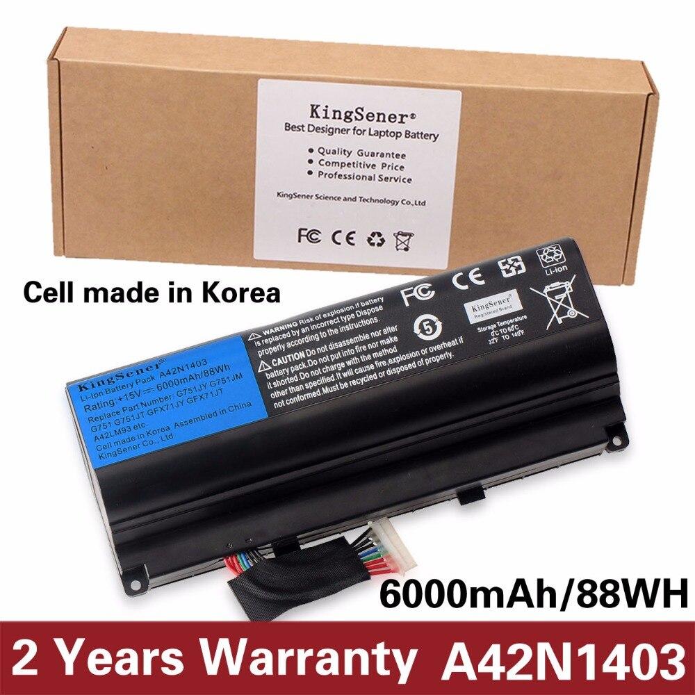 KingSener Corée Portable Nouveau A42N1403 Batterie D'ordinateur Portable pour ASUS ROG G751JY G751JM G751JT GFX71JY GFX71JT A42N1403 A42LM93 4ICR19/66 -2