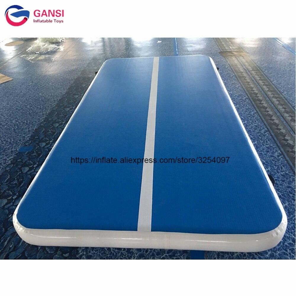 Piste gonflable de dégringolade d'air de tapis gonflable de gymnase de coussin d'exercice de 4x2x0.2 m pour l'entraînement de gymnastique