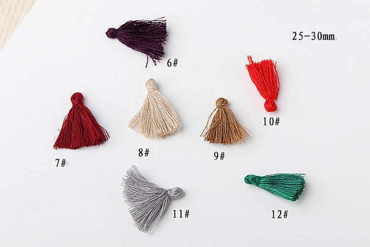 חדש 2.5cm כותנה חוט צבע קטן ציצית אביזרי DIY אביזרי תליון שרשרת שרשרת צמיד סיכת ראש חומר