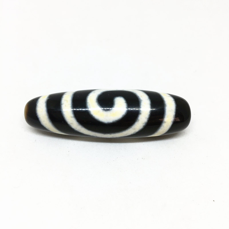 Rare Pattern Bead Natural Agate Spiral Pattern Amulet 13mm*45mm Tibetan Dzi Beads Loosing Beads for Bracelet and Necklace