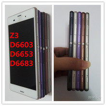 purple black white gold For Sony Xperia Z3 D6603 D6643 D6653 D6633 D6683 LCD Display Touch Digitizer Screen Assembly+ Sticker lruiize 100% test white lcd display screen for sony xperia z3 d6603 d6643 d6653 d6633 touch digitizer assembly tools frame