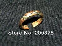 r036 плетеное кольцо из тибетской латуни, плетение - простая змейка, 10 штук в наборе, лучшее предложение