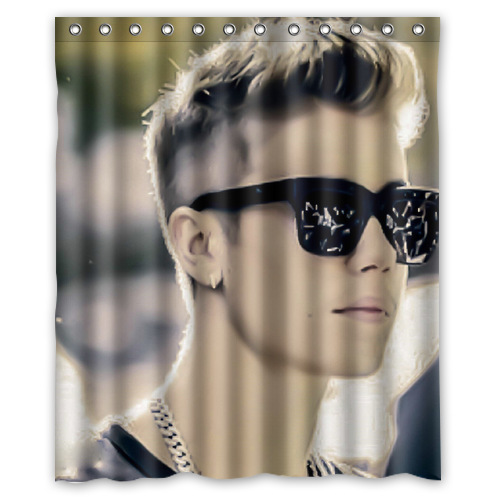 Personalized Waterproof Justin Bieber Shower Curtain 12 Holes To Which Rings Attach 60 X 72