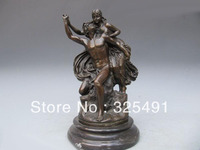 Gloria Victti Angel And Nude Man Painted Bronze Statue z