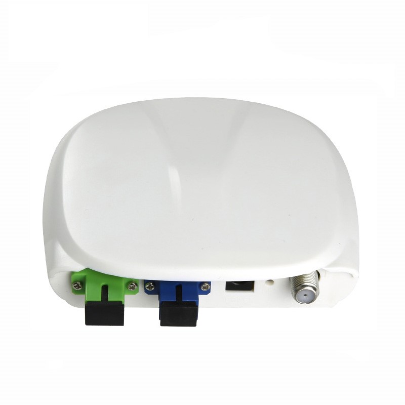 Fiber Optical FTTH Optical Receiver SC/APC-SC/UPC With WDM And AGC Mini Node Indoor Optical Receiver With White Plastic Case