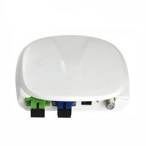 Image 1 - 繊維光学 ftth 光受信機 SC/APC SC/UPC と WDM と AGC ミニノード室内光受信機白プラスチックケース