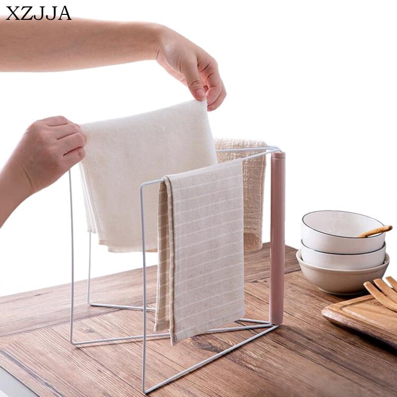 XZJJA Creative Vertical Iron Towel Rack Kitchen Countertop ...
