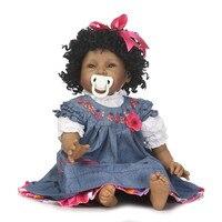 NPK 55 cm Negro Princesa Muñecas Reborn Silicona Suave de Cuerpo Completo Muñeca bebé Recién Nacido Bebés Vivos Bebe Reborn Doll para Niñas juguete