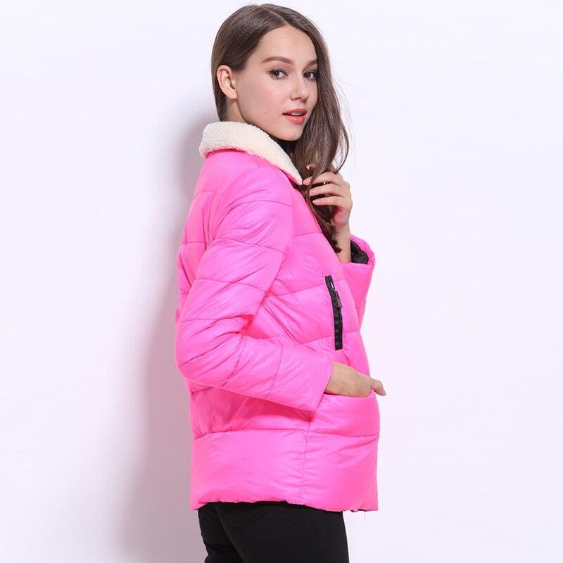 2016 Avrupa ve Amerikan tarzı kışın sıcak ve rüzgar geçirmez ceket yaka şeker renkli kış moda aşağı ceket