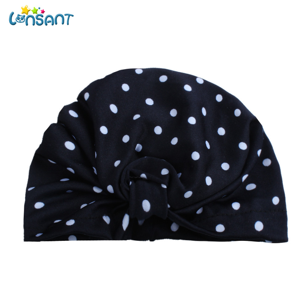 Toddler Kids Polka Dot Turban Cotton Beanie Hat Baby Boys Girls Winter Warm Cap