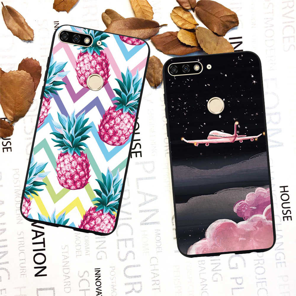 For Huawei Honor 9 10 Lite Light Honor 8 7A 7C 7X 6A 6C 6X Phone Case Luxury Marble Geometric Soft Silicone Case Cover Funda