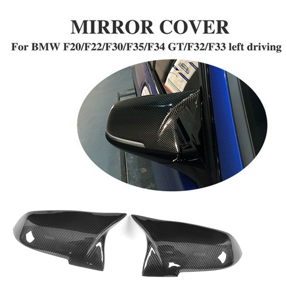 Carbon Fiber Replacement type Side Rearview Mirrors Covers Caps for BMW F20 F22 F30 F31 GT F34 F32 F33 X1 E84 Left Hand Drive клапан для полива gardena 01278 27 000 00