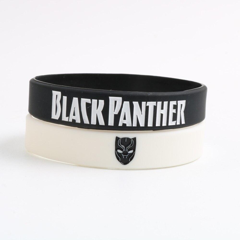 1 St Black Panther Siliconen Polsbandje Wakanda Forever Siliconen Armbanden Movie Black Panther Rubber Mode-sieraden Voor Fans