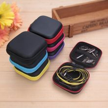 ALLOYSEED 1pcs Square EVA/PU Storage Box Case For Earphone Headphone Memory Card MP3 Headset Data Cable Organizer Box Bag Holder(China)