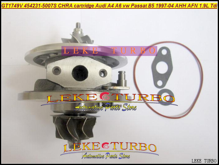 Turbo CHRA cartridge GT1749V 454231-5007S 454231 Turbocharger For AUDI A4 B5 B6 A6 C5 For Volkswagen VW Passat B5 AHH AFN 1.9L k03 turbocharger core cartridge 53039700029 53039880029 turbo chra for audi a4 a6 vw passat b5 1 8l 1994 06 bfb apu anb aeb 1 8t