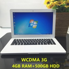 13.3 inch laptop windows7/8/10 4G RAM DDR3+500G HDD In-tel J1900 Quad core PC Ultrabook WCDMA 3G tablet HDMI 1.99GHz computer