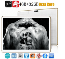 9.6 pulgadas tablet pc Octa core bluetooth wifi GPS 1280*800 5.0MP 4 GB 32 GB Android Phablet 5.1MID 3G WCDMA 4G LTE DHL Libre gratis
