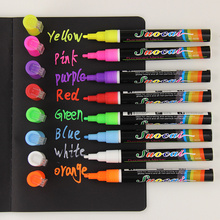 1pcs Liquid Chalk Marker Pens Erasable Multi Colored Highlighters LED Writing Board Glass Window Art 8 Colours