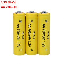 NI-CD AA Batteries 1.2v Rechargeable nicd Battery 1.2V Ni-Cd aa For Electric remote Control car Toy RC ues wholesale бортникова е развиваем внимание и логическое мышление р т