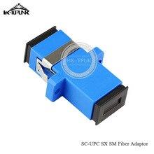 จัดส่งฟรี100Pcs SC/UPCไฟเบอร์ออปติกอะแดปเตอร์,โหมดเดี่ยวSM SXเส้นใยอะแดปเตอร์Digital Communications Fiber Coupler