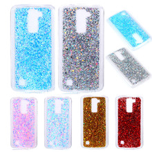 цена на Case For LG K10 K 10 lte M2 K420N K430DS 5.3 Colored Shiny Glitter Silicone TPU Gel Soft Back Cover Case for LG K10 K430 K410