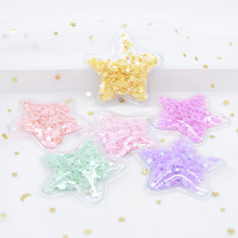 12Pcs 50mm Filling Shinng Sequins Appliques Star Patches for Clothing Crafts Cake Topper Decor DIY Hair Clips Bow Ornament H04