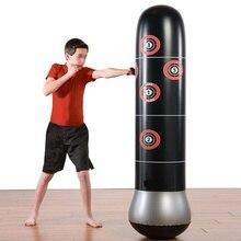 63 дюйма боксерская груша надувные-стенд стакан Муай Тай обучение Давление облегчение в норму песком с воздушным насосом
