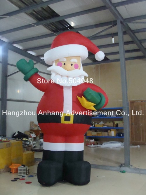 Inflatable Western Christmas Decorations Santa inflatable cartoon customized advertising giant christmas inflatable santa claus for christmas outdoor decoration