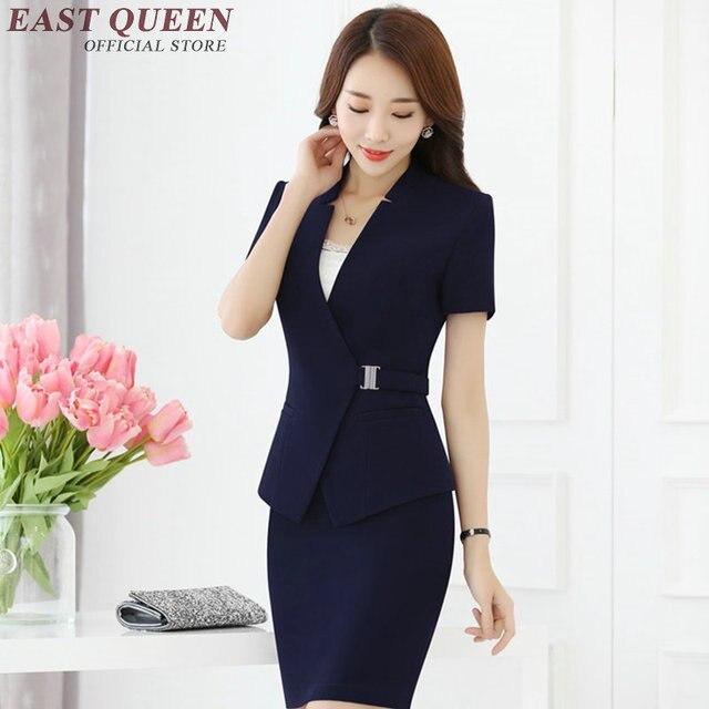 0925706145 Nuevas mujeres trajes con faldas elegante falda femenina trajes bodycon  lápiz falda Oficina uniforme diseños mujer