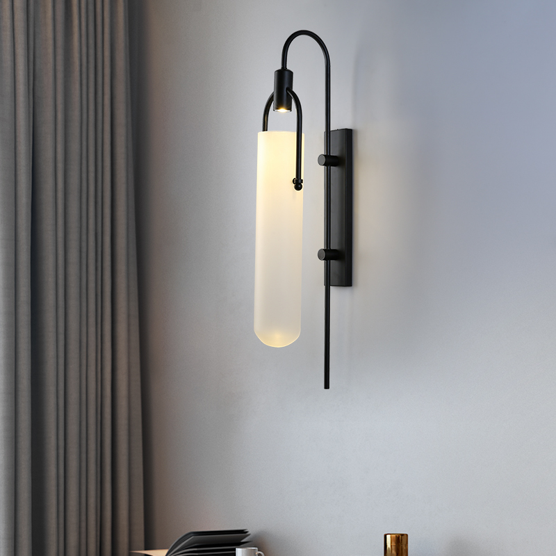 Modern Vintage Classic Wall Light for Bedside Lighting Glass Sconces LED Wall Mount Lamp E27 Living