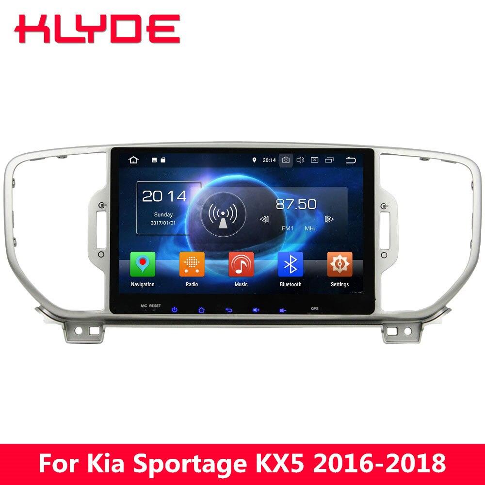 KLYDE 9 ips Восьмиядерный 4G wifi Android 8,0 7,1 6,0 4 Гб ОЗУ 32 Гб ПЗУ автомобильный DVD мультимедийный плеер радио для Kia Sportage 2016 2018