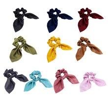 купить Sweet Design Ladies Hair Accessories Headbands For Women Girl Bow Hair Holder Rope Female Hair Tie Turban онлайн