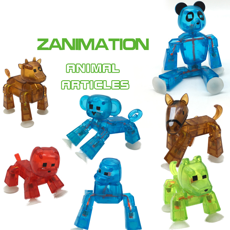 1PCS Stikbot Pets Sticky Robot Studio Action Figure Toy Kids Toy Sucker DIY Game Toys for Children Christmas Gift in Random 50 pcs lot action figures toy cute sucker little monster small animals doll kids toys mini capsule children gift