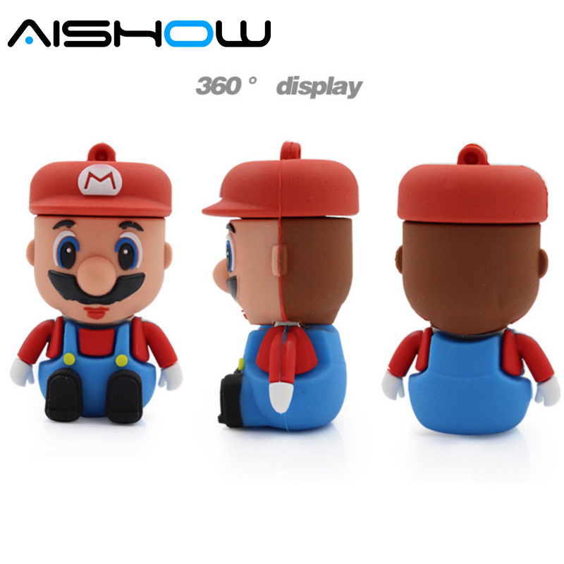 Super Mario USB ֆլեշ սկավառակ նվերներ գրիչ - Արտաքին պահեստավորման սարքեր - Լուսանկար 3