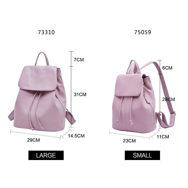 190aabf4f609 ... Фото 5 BOYATU рюкзак из натуральной кожи Женский рюкзак Женский рюкзак  мешок с Дос старинные женщины