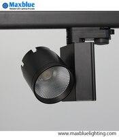 LED Track Light 30W COB Rail Light Replace Hologan Lamp White Black Finished Ceiling LED Track