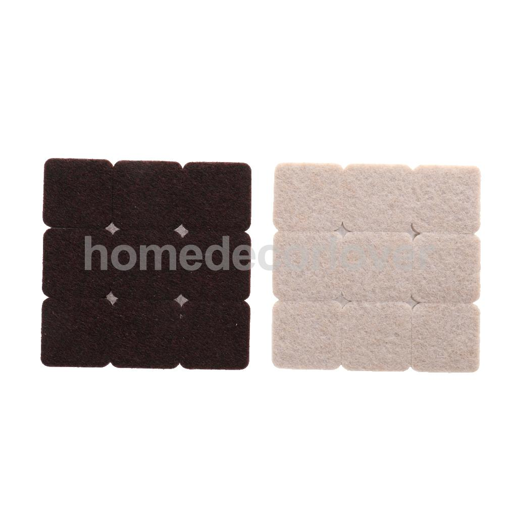 18x High Quality DIY Self Adhesive Furniture Scratch Protector Rectangle Felt Pads Sets